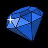 Blue gem sticker