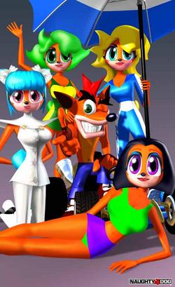 Crash Team Racing Trophy Girls
