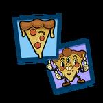 Team pizza sticker pack