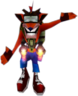 Crash with his jetpack