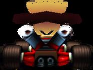 CTR N. Cortex In-Kart (Back)