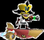 Doctor Neo Cortex Hoverboard Crash Twinsanity