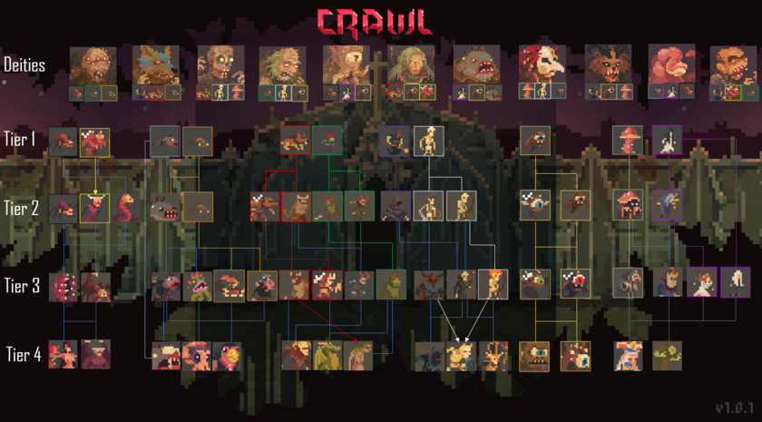Crawl Evolution Paths V.2