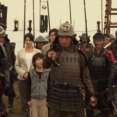 Scene after defeating Okurai