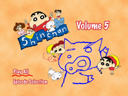 Shin Chan Volume 5 Main Menu