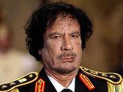 Gaddafi scowl