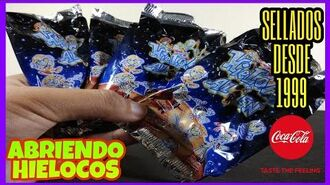 HIELOCOS ALIEN 1999 COCA-COLA ABRIENDO 4 BOLSAS, SKUNOTV HIELOCOS COCACOLA