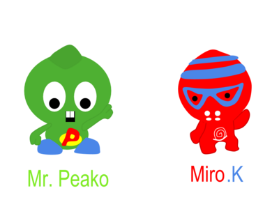Funky Fighter's Mr Peako and Miro k Drawings