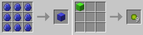 Block recipes