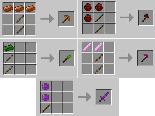 Tool recipes