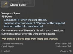 Chaos Spear