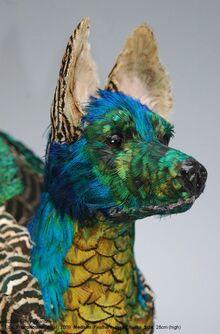 Feathered dog