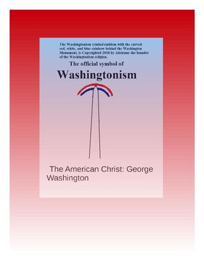 Washingtonism Symbol Red White Blue Background