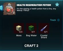 Creativerse R41 crafting recipes health regeneration potion01
