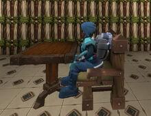 Creativerse R38 iron chair sitting001