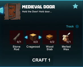 Creativerse R41 crafting recipes colossal castle medieval door01