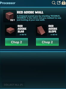 Creativerse processing slopes red adobe