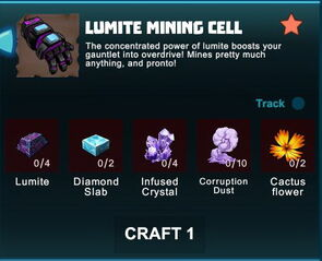 Creativerse R41 crafting recipes 2017-05-02 04-01-30-08 lumite mining cells