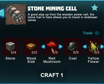 Creativerse R41 crafting recipes stone mining cell01