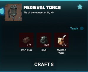 Creativerse R41 crafting recipes colossal castle medieval torch01