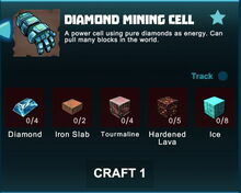 Creativerse R41 crafting recipes diamond mining cell01