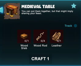 Creativerse R41 crafting recipes colossal castle medieval table01