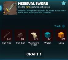 Creativerse sword crafting recipe 88