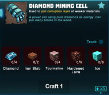 Creativerse diamond mining cell 2019-04-29 21-07-33-3208 crafting mining cell