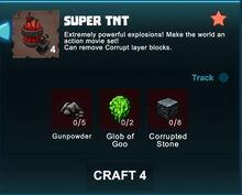 Creativerse R41 crafting recipes Super TNT001