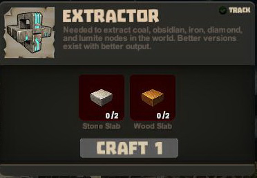 Creativerse crafting R22 Extractor September 0032