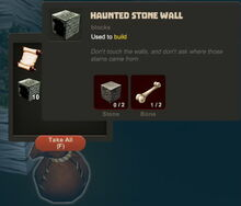 Creativerse Halloween finds033 Haunted Stone Wall