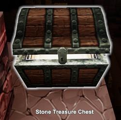 Stone treasure chest