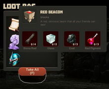Creativerse Red Beacon from Thing