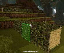 Creativerse mossy weepwood log1001