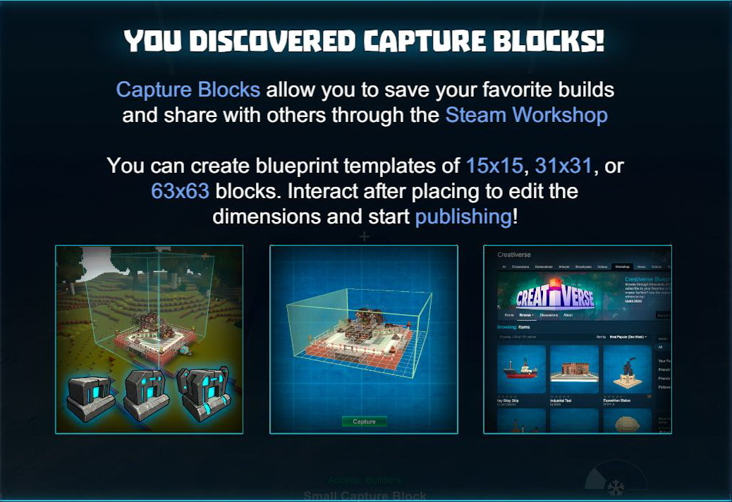 Creativerse Update Preview   The Blueprint Revolution!