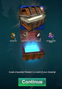 Creativerse small Halloween login chest
