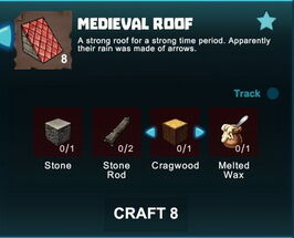Creativerse R41 crafting recipes colossal castle medieval roof01