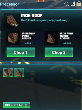 Creativerse R41,5 processing corners for roofs 518