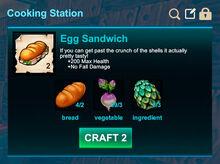 Cooking station-Sandwich-Egg sandwich-R50
