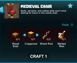 Creativerse R41 crafting recipes colossal castle medieval chair01