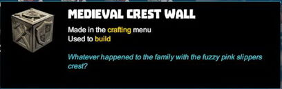 Creativerse R41 colossal castle medieval crest wall tooltip01