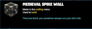 Creativerse R41 colossal castle medieval brick spike wall tooltip01