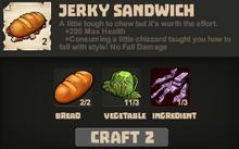 Sandwich jerky pro