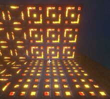 Creativerse Grated Furnace Wall glows now001