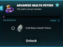 Creativerse unlocks R41 Advanced Health Potion