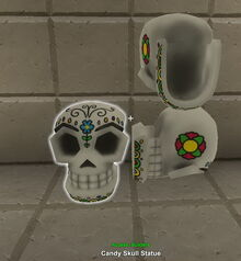 Creativerse candy skull statue 2017-10-19 10-38-40-01 candles etc
