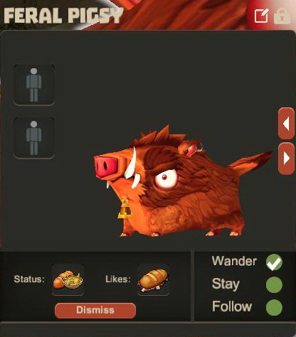 Creativerse Feral Pigsy Pet R23 477