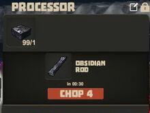 Creativerse Obsidian slab and rod01