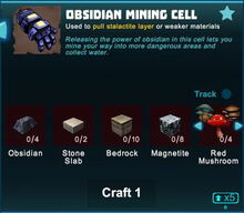Creativerse obsidian mining cell 2019-04-29 21-07-33-3206 crafting mining cell