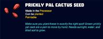 Prickly pal cactus seed